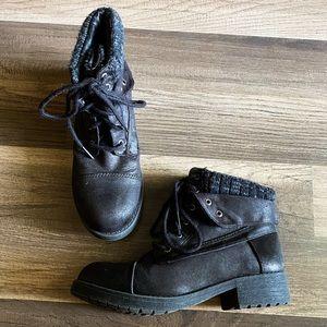 Black Combat Boots Size 6